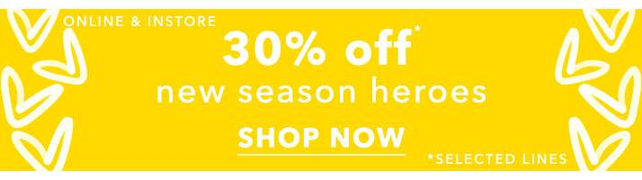 Up To 30% Off New Season Heroes - Shop Now