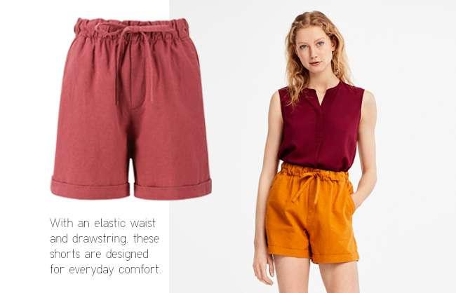 Women's Cotton Linen Relaxed Shorts