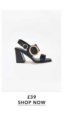 HATTIE Circle Buckle Sandals