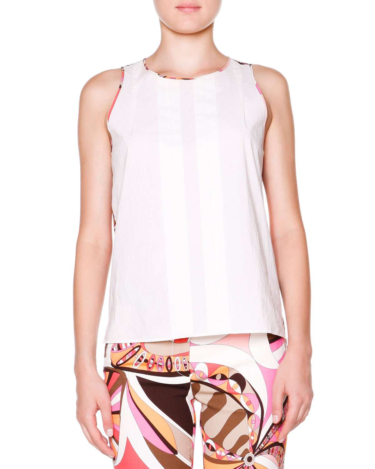 Sleeveless Top W/ Printed Back