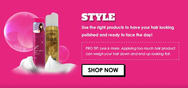 Click here for 30% off all Hair Styling products from 13-16 Sep