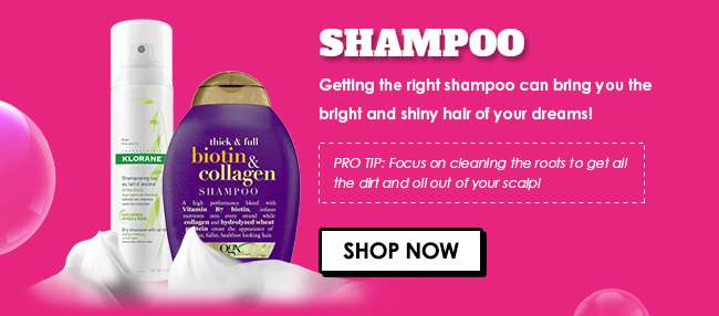 Click here for 30% off all Shampoo products from 13-16 Sep