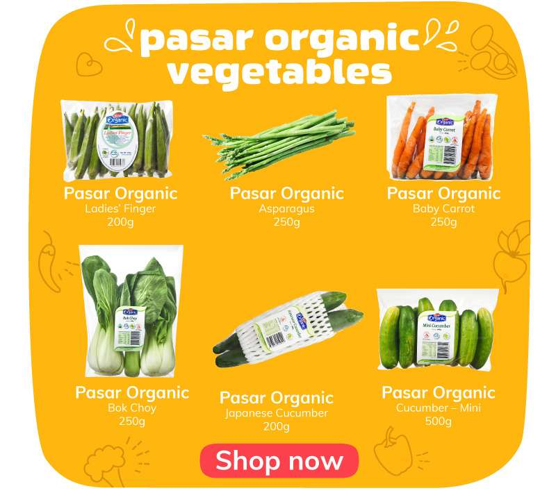 pasar organic vegetables