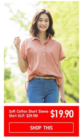 Women's Soft Cotton Short Sleeve Shirt