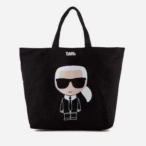 Karl Lagerfeld Women's K/Ikonik Canvas Bag - Black