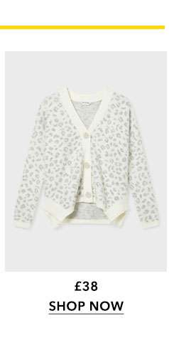 Animal Print Soft Touch Knitted Cardigan