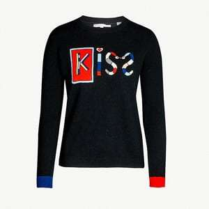 Mexican Kiss cashmere and wool-blend jumper