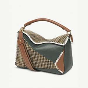 Puzzle Tweed leather bag
