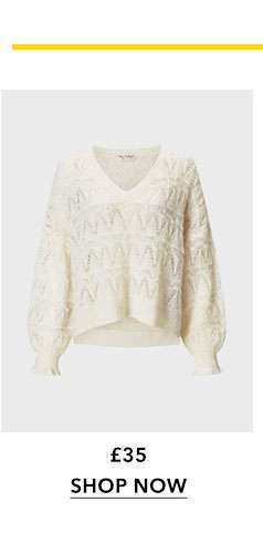 Cream Open Knitted Jumper