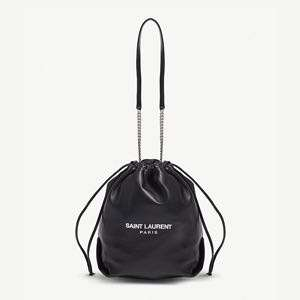 SAINT LAURENT - Teddy leather bucket bag