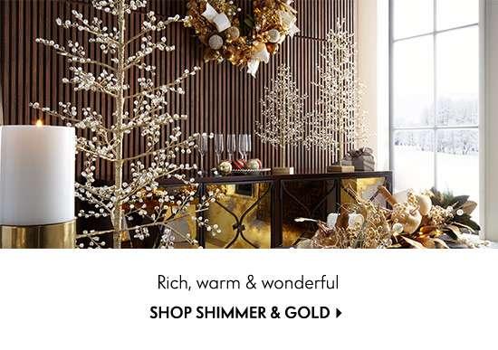 Shop Shimmer & Gold