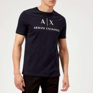 Armani Exchange Men's AX Logo Slim T-Shirt - Navy