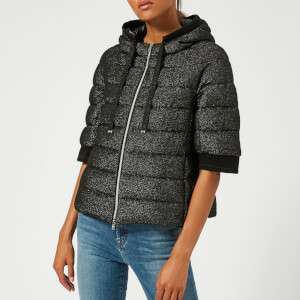 Herno Women's Short Jacket with Hood and Cropped Sleeve - Black