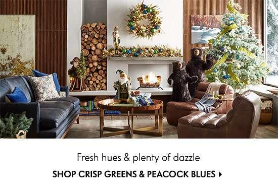 Shop Crisp Greens & Peacock Blues