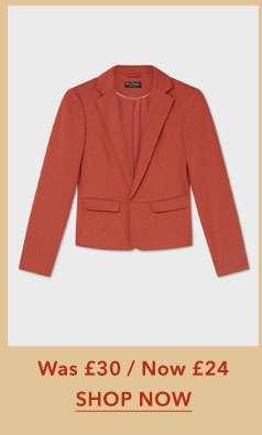 Rust Winter Ponte Jacket