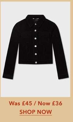 Black Cord Trucker Jacket