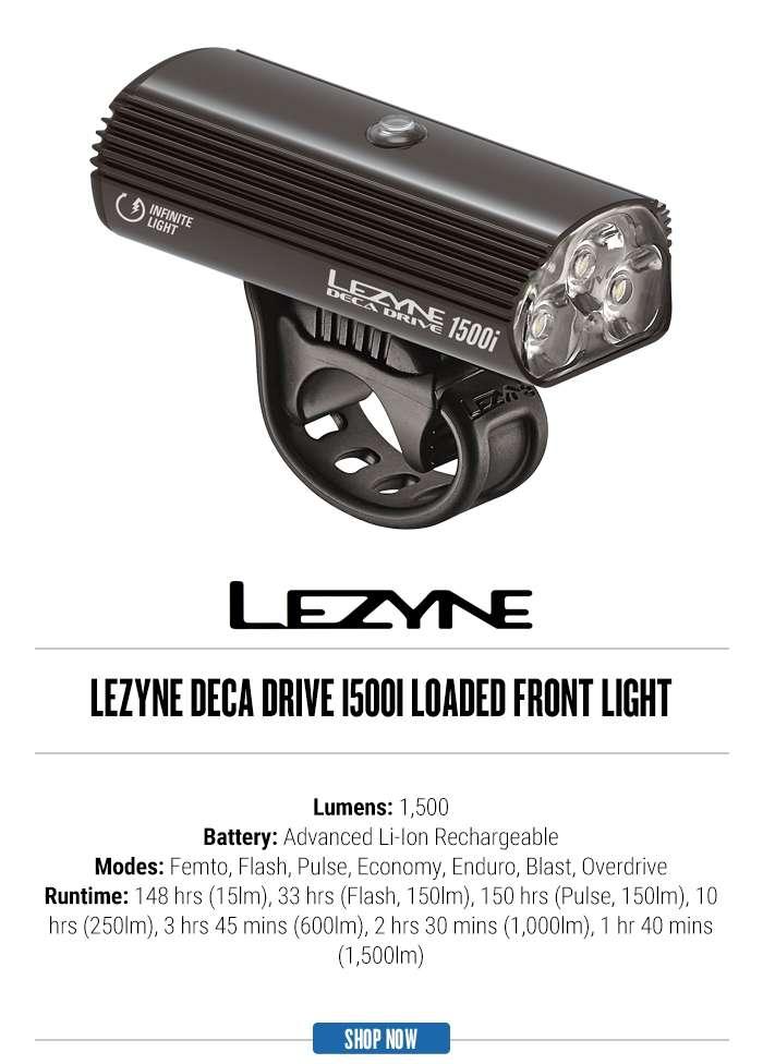 Lezyne Deca Drive 1500i Loaded Front Light