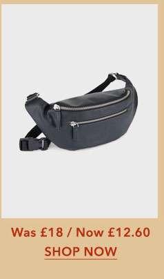 Black Zip Front Bum Bag