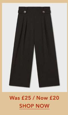 Button Side Wide Leg Trousers