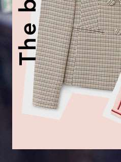 Checked Faux Double Breasted Blazer