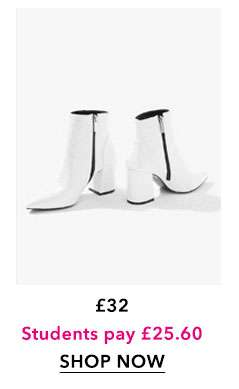 White ABI Point Boots