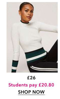 Colour block Striped Ribbed Top