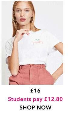 White Peachy T-Shirt