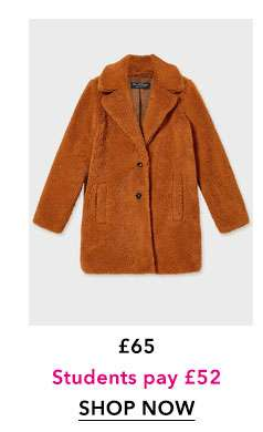 Rust Teddy Coat