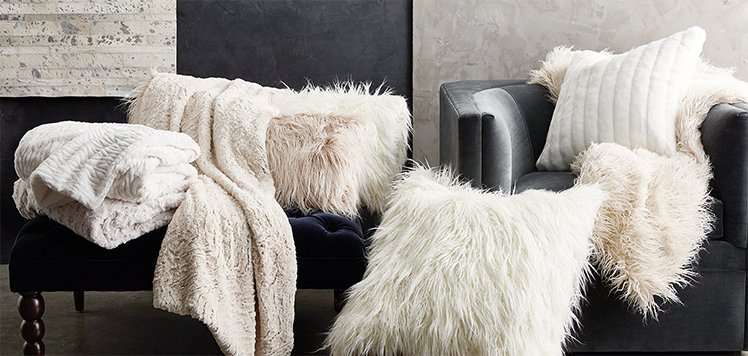 Elevated Home: Faux-Fur Pillows