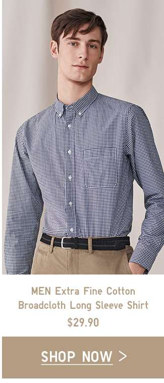 Extra Fine Cotton Broadcloth Shirt