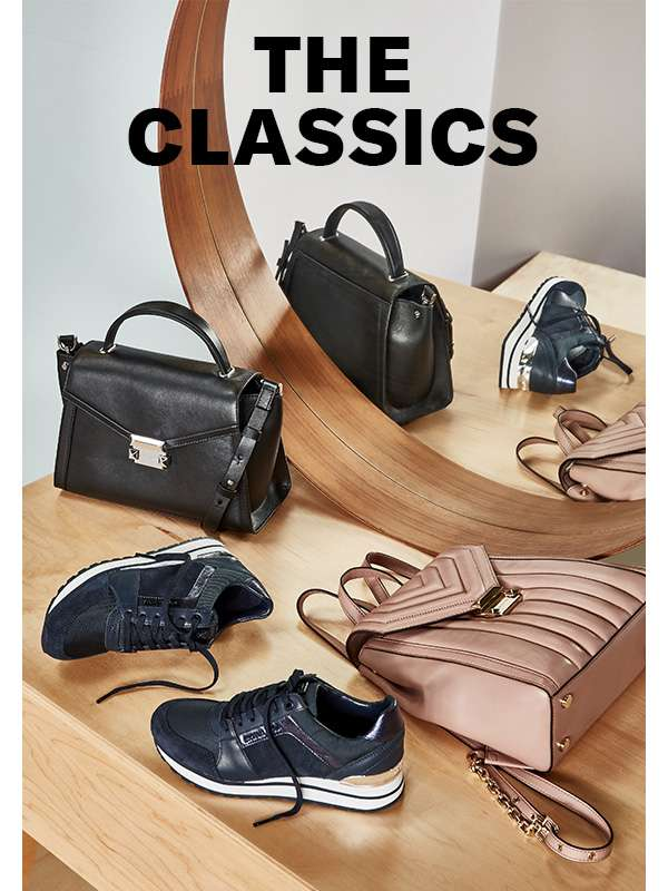 Wear-everywhere sneakers, bags, and more accessories from MICHAEL Michael Kors.