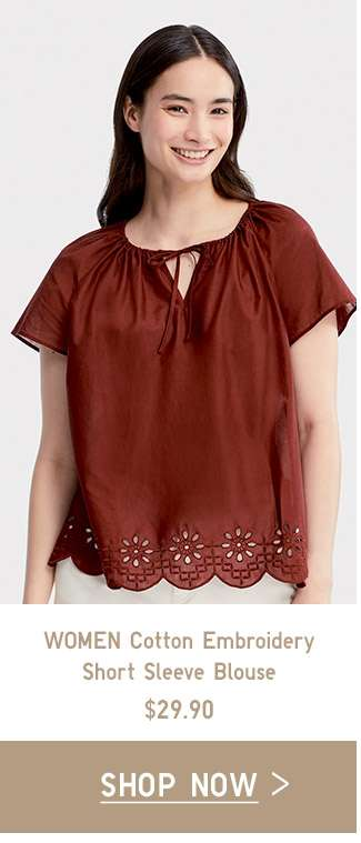 Women's Cotton Embroidery Blouse