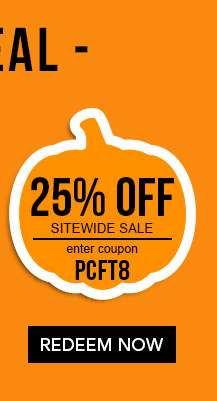 25% off Sitewide with code PCFT8. Ends 9/24/18