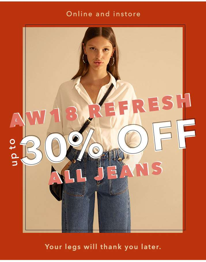 Up To 30% Off All Jeans