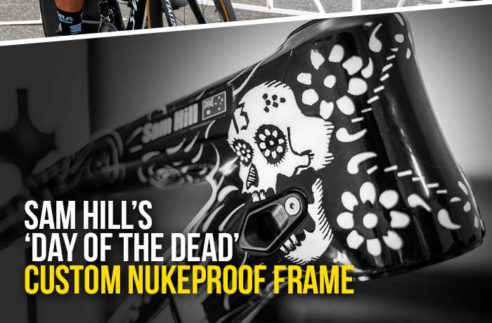 Sam Hill's 'Day of the Dead' custom Nukeproof frame