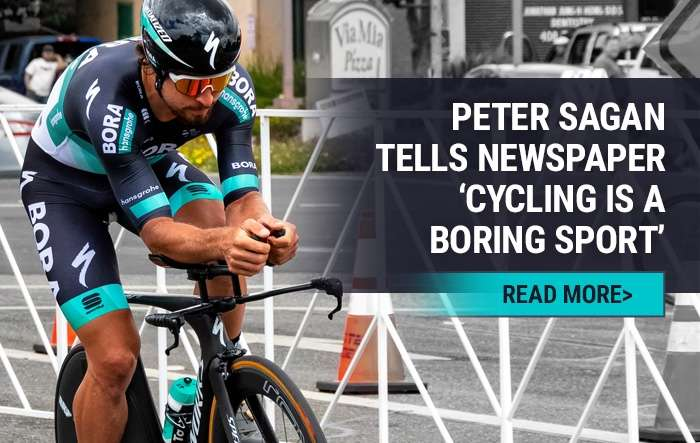 Peter Sagan tells newspaper 'cycling is a boring sport'