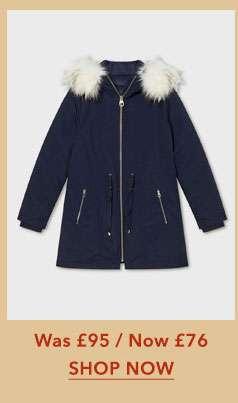 Navy 3 In 1 Parka Coat