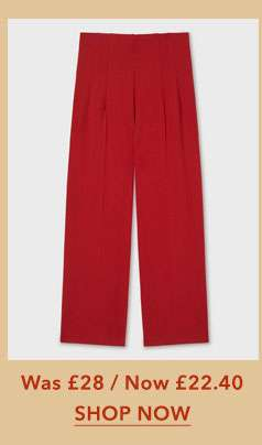 Red High Waist Corset Trousers