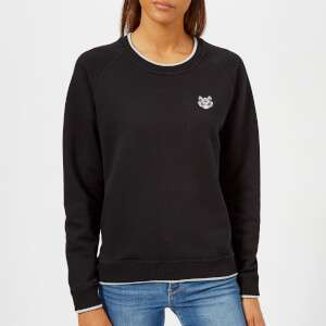 KENZO Women's Light Cotton Molleton Sweatshirt - Black