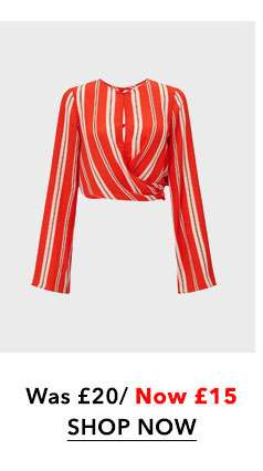 Orange Stripe Twist Top