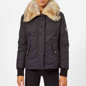 Belstaff Women's Barnsdale Fur Trim Coat - Black