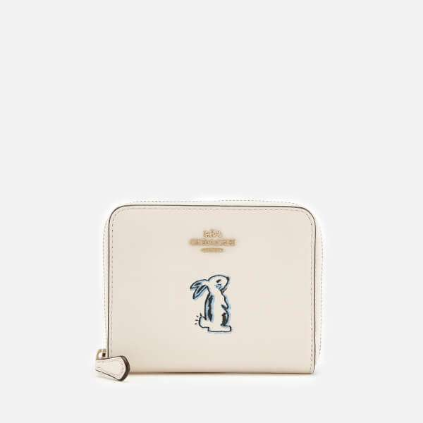 Coach Women's Selena Bunny Small Zip Around Purse - Chalk