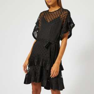 Zimmermann Women's Pleated Tier Smock Dress - Black