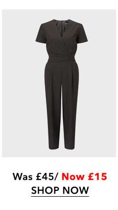 Cross Front Culottes Jumpsuit