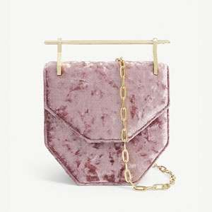 Mini Collectionneuse velvet shoulder bag