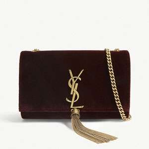 Kate small velvet shoulder bag