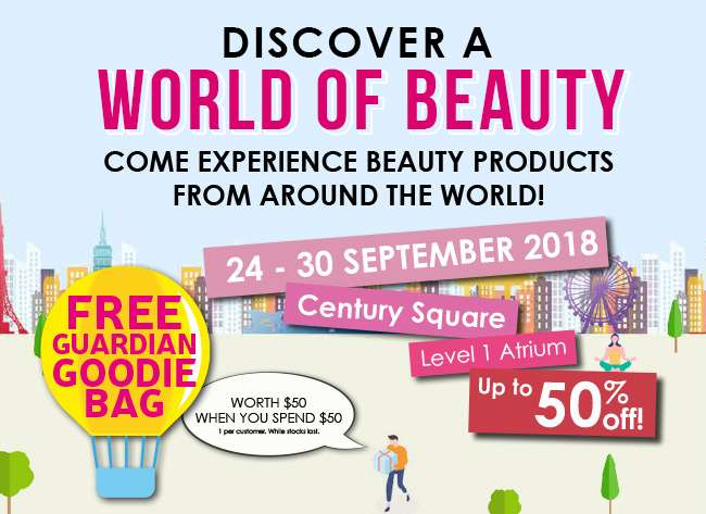 Discover a World Of Beauty at Century Square from 24-30 Sep!