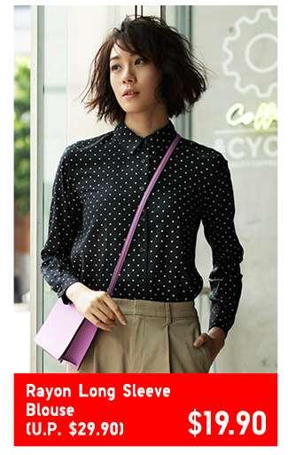 Women's Rayon Long Sleeve Blouse