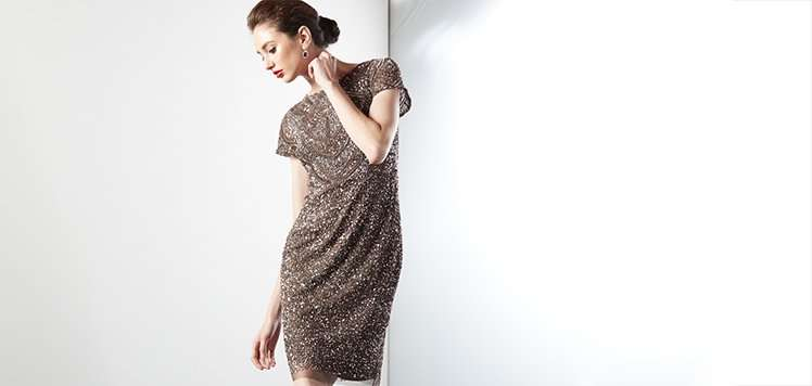 Sequin to Lace Occasion Dresses
