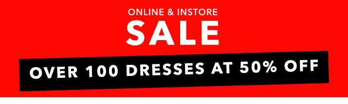 Online & instore sale up to 50% off